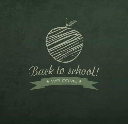 back view student: Background With School Blackboard And Text Stock Photo