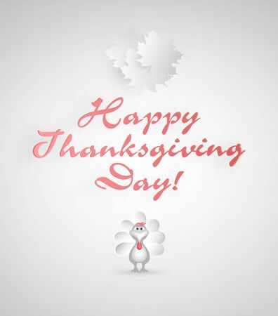 thanksgiving day symbol: Thanksgiving Day Background With Maple Leafs, Turkey And Title Inscription