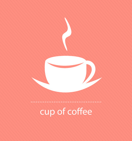 swirl design: Cup of coffee