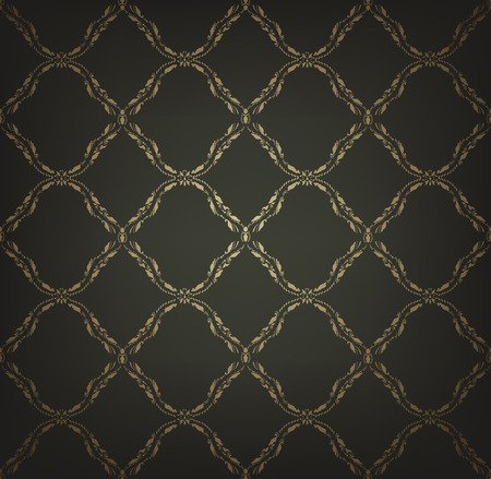 clipping mask: Vintage Seamless Gold Pattern With Clipping Mask Stock Photo