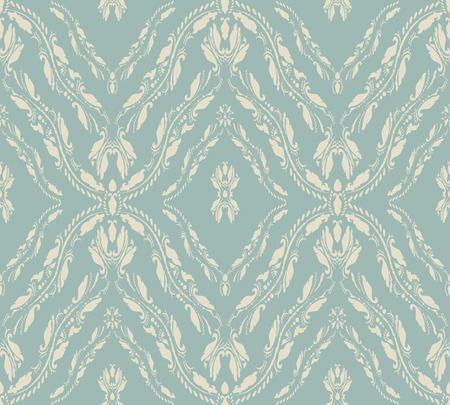clipping mask: Vintage Seamless Floral Pattern Ornament With Clipping Mask