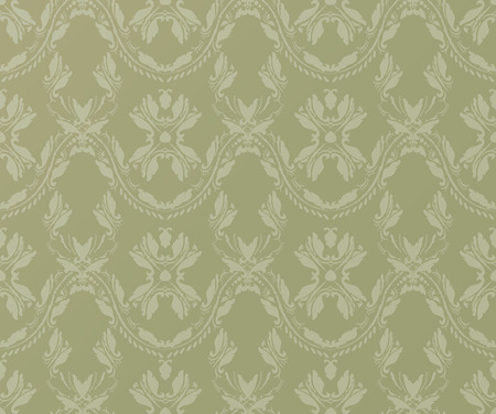 clipping mask: Vintage Green Pattern Witn Clipping Mask