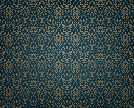brocade: Vintage Seamless Floral Pattern Ornament