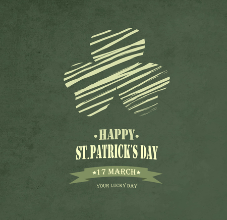 filthy: Vintage Saint Patricks Day Background  With Leaf And Title Inscription