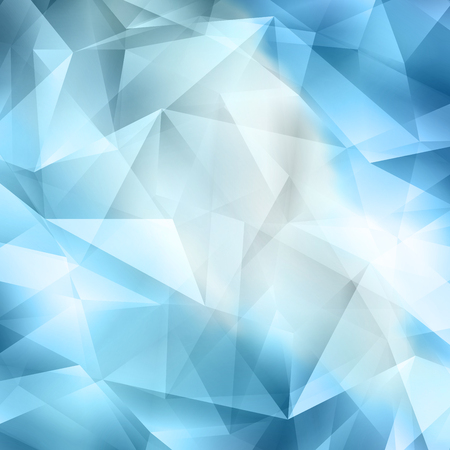 curve creative: Crystal Abstract Geometric Cut  Blue Background