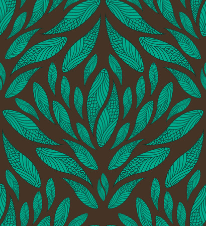 springtime: Abstract Seamless Blue And Brown Pattern