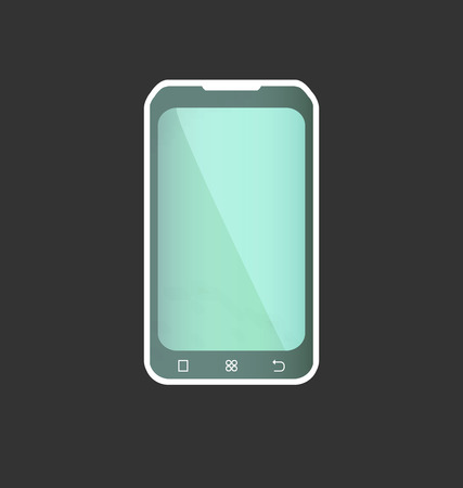 telecommunications technology: Abstract Smart Phone On A Grey Background