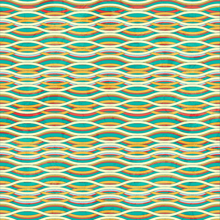 waved: Seamless Grunge Striped Waved Background
