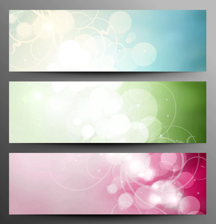 twinkle: Set Of Light Festive Banners With Shine And Twinkle