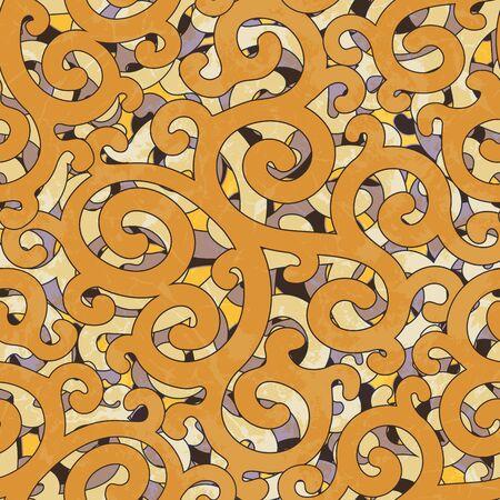 textile texture: Seamless Grunge Abstract Colorful Damask Orange Yellow Purple Pattern