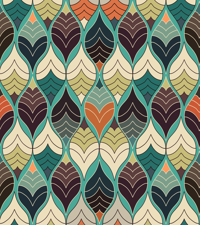Abstract Seamless Colorful Print Modern Geometric Pattern