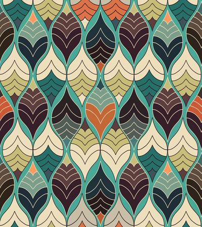 Abstrait, imprimé coloré, motif moderne géométrique moderne Vecteurs
