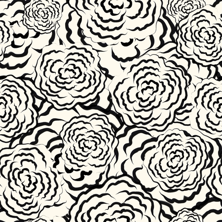 Seamless floral sketch pattern Stock Photo