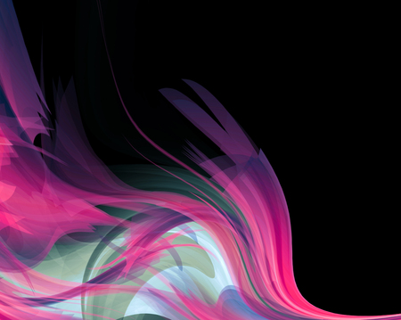 Bright colored and black modern futuristic background with abstract waves