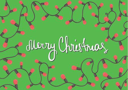 horizontal: Horizontal template Christmas card. Illustration