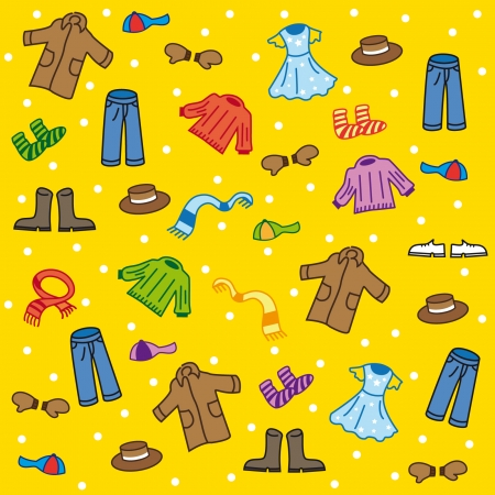 wellingtons: Wear pattern on a yellow background Illustration