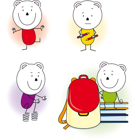diffident: happy bear goes to school