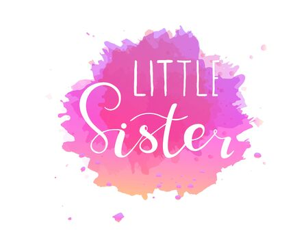 Little sister. Lettering for babies clothes.  イラスト・ベクター素材