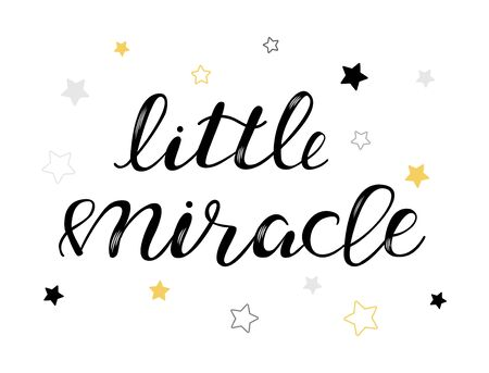 Baby lettering quote for design, clothes, kids poster, pillow, bags, t-shirt. Lettering photography family overlay . Hand written sign. Baby photo album element. Vector illustratrion.