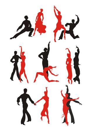 paso doble: lady and gentleman dance pasodoble. Set