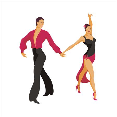 paso doble: Spanish dance Paso Doble. ballroom dancing couple