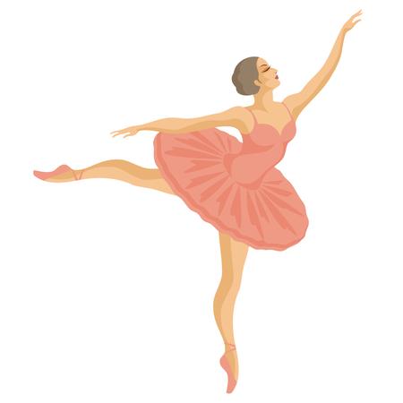 tutu: dancing ballerina in pink tutu