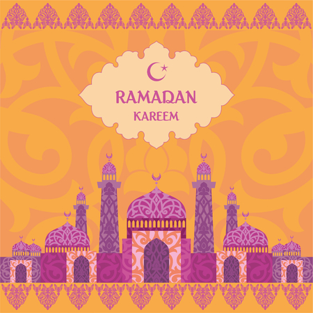 temperance: Ramadan greeting with the image of the mosque