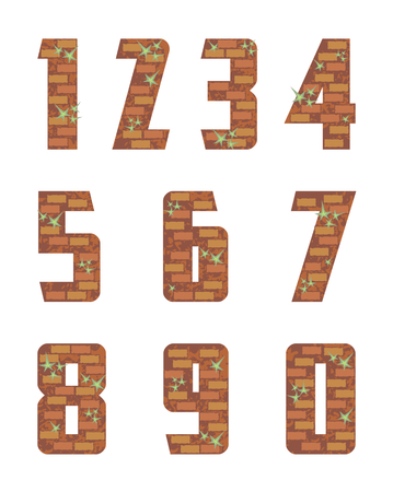 numeral: brick wall numeral