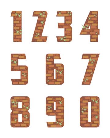 brick wall numeral