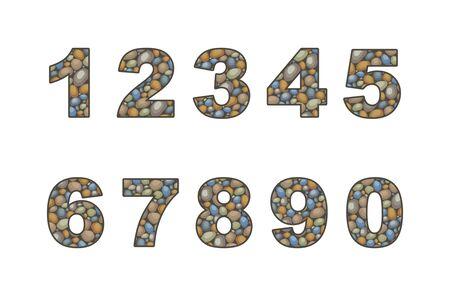 pebble: large pebble numeral