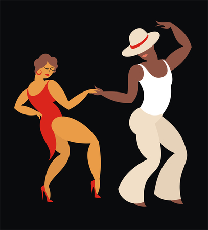 heer en dame dans Latijns-Amerika salsa dansen