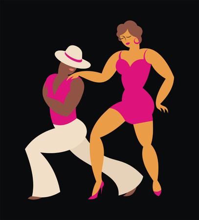 Signora e danza signore America Latina ballare salsa Archivio Fotografico - 58612112