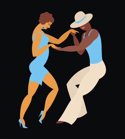latin america: lady and gentleman dance Latin America dance salsa