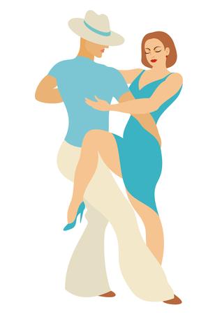 Signora e danza signore America Latina ballare salsa Archivio Fotografico - 58612119