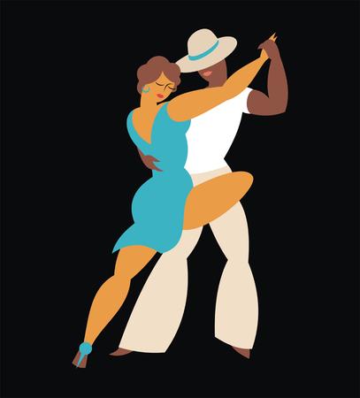 Signora e danza signore America Latina tango Archivio Fotografico - 58612122