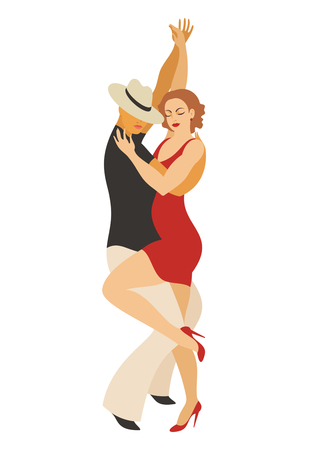 lady and gentleman dance Latin America dance salsa