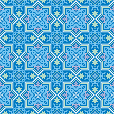 rapport: Arabesque. Pattern in Mauritian style. Arab seamless texture. Element of design. Islamic background. Illustration