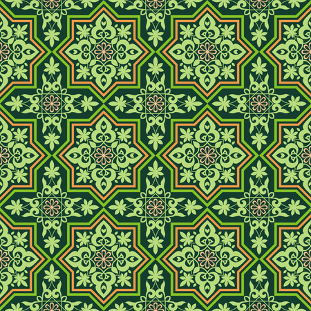 eastern religion: Arabesque. Pattern in Mauritian style. Arab seamless texture. Element of design. Islamic background. Illustration