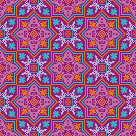 Arabesque. Pattern in Mauritian style. Arab seamless texture. Element of design. Islamic background. Ilustração