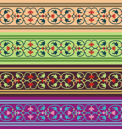 eastern religion: Arabesque. Seamless pattern in Mauritian style. Arab element of design. Islamic border.