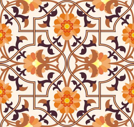 arabesco: Arabesco. Patrón de estilo morisco. Textura árabe sin fisuras. Elemento de diseño. antecedentes islámicos.