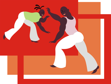 dexterous: the fighters of the national Brazilian martial art capoeira Illustration