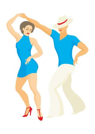 Dame und der Herr Tanz Lateinamerika Salsa tanzen Standard-Bild - 60302621