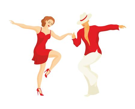 Dame und der Herr Tanz Lateinamerika Salsa tanzen Standard-Bild - 60302625
