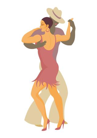 latin america: lady and gentleman dance Latin America salsa Illustration