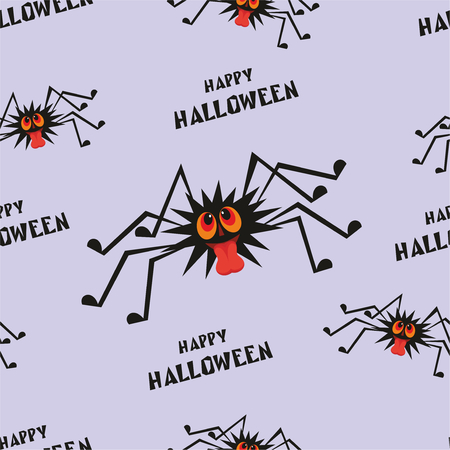 squabble: Halloween seamless pattern with the image of the perky spider