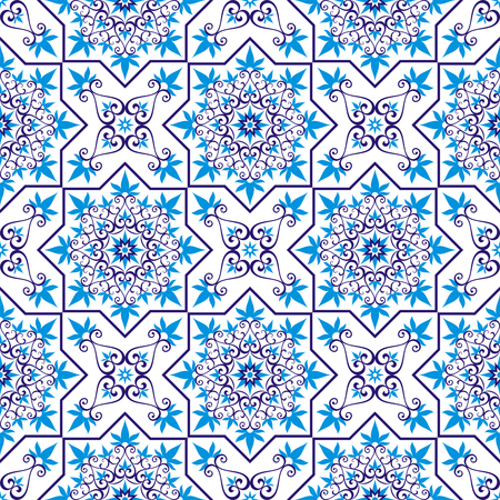 middle: Arabesque. Pattern in Moorish style. Arab seamless texture. Element of design. Islamic background. Oriental ornament.