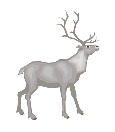 Vector image of a reindeer. Isolated on a white background.