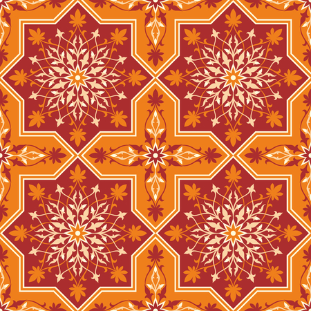 Arabesque. Pattern in Moorish style. Arab seamless texture. Element of design. Islamic background. Oriental ornament.