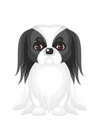 Vector image of a cute purebred dogs in cartoon style. Illustration